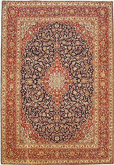 "Kashan Red Hand Knotted 9'11"" X 14'6""  Area Rug 100-14790"