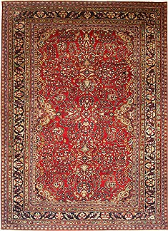 "Kashan Red Hand Knotted 10'8"" X 14'10""  Area Rug 100-14793"