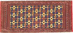 "Turkman Multicolor Hand Knotted 1'11"" X 4'4""  Area Rug 100-14808"