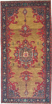 "Koliai Red Runner Hand Knotted 5'3"" X 10'6""  Area Rug 100-14815"