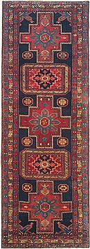 "Ardebil Blue Runner Hand Knotted 3'8"" X 10'2""  Area Rug 100-14817"