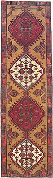 Persian Sarab Red Runner 6 to 9 ft Wool Carpet 14820