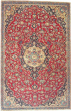 "Kashmar Blue Hand Knotted 7'1"" X 11'2""  Area Rug 100-14824"