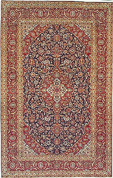 "Kashan Red Hand Knotted 8'2"" X 12'11""  Area Rug 100-14825"