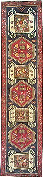 "Ardebil Red Runner Hand Knotted 2'10"" X 11'8""  Area Rug 100-14826"