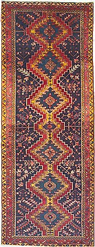 Persian Goravan Red Runner 10 to 12 ft Wool Carpet 14829