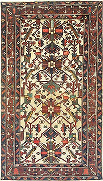 "Bakhtiar Brown Hand Knotted 4'9"" X 8'3""  Area Rug 100-14831"