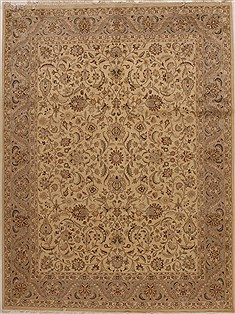 "Pak-Persian Beige Hand Knotted 7'10"" X 10'6""  Area Rug 100-14929"