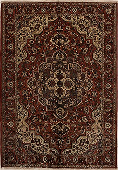 Persian Bakhtiar Red Rectangle 7x10 ft Wool Carpet 14967