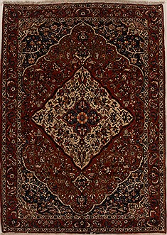 Persian Bakhtiar Red Rectangle 7x10 ft Wool Carpet 14971