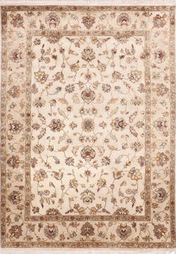 "Jaipur White Hand Knotted 5'0"" X 7'1""  Area Rug 905-140000"