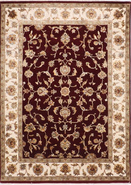 "Jaipur Red Hand Knotted 5'1"" X 7'2""  Area Rug 905-140002"