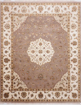 "Jaipur Grey Hand Knotted 8'0"" X 10'0""  Area Rug 905-140039"