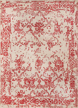 "Modern-Contemporary Red Hand Knotted 8'6"" X 11'6""  Area Rug 902-140047"