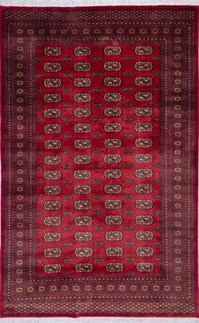 "Bokhara Red Hand Knotted 6'8"" X 10'5""  Area Rug 700-140403"