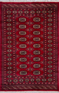 Pakistani Bokhara Red Rectangle 4x6 ft Wool Carpet 140428