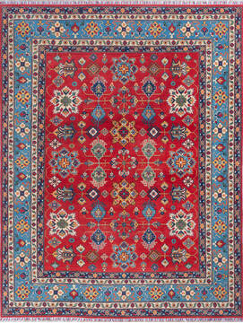 "Kazak Red Hand Knotted 7'9"" X 10'1""  Area Rug 700-140461"