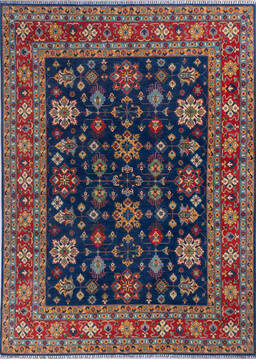 "Kazak Blue Hand Knotted 7'11"" X 10'11""  Area Rug 700-140462"