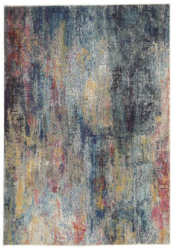 Nourison Celestial Multicolor Rectangle 4x6 ft Polypropylene Carpet 140973