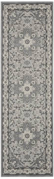 Nourison Grand Villa Grey Runner 6 to 9 ft Polypropylene Carpet 141361