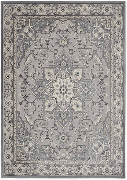 Nourison Grand Villa Grey Rectangle 5x7 ft Polypropylene Carpet 141362