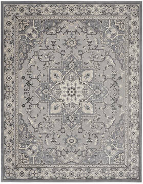Nourison Grand Villa Grey Rectangle 8x10 ft Polypropylene Carpet 141363
