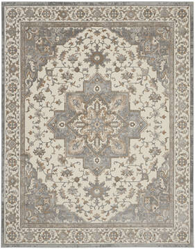 Nourison Grand Villa Grey Rectangle 8x10 ft Polypropylene Carpet 141366