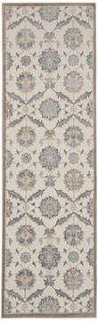 Nourison Grand Villa Beige Runner 6 to 9 ft Polypropylene Carpet 141371
