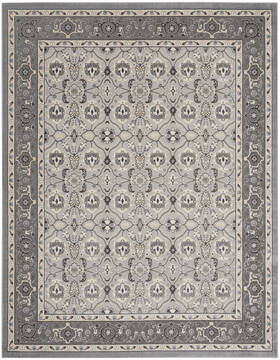 Nourison Grand Villa Grey Rectangle 8x10 ft Polypropylene Carpet 141376