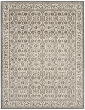 Nourison Grand Villa Grey Rectangle 8x10 ft Polypropylene Carpet 141379