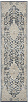 Nourison Malta Blue Runner 6 to 9 ft Polypropylene Carpet 141708