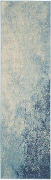 "Nourison Passion Blue Runner 2'2"" X 7'6"" Area Rug  805-142022"
