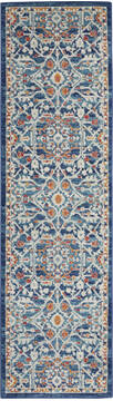 "Nourison Passion Blue Runner 2'2"" X 7'6"" Area Rug  805-142133"