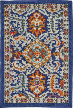 "Nourison Passion Blue 1'10"" X 2'10"" Area Rug  805-142162"