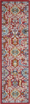 "Nourison Passion Red Runner 2'2"" X 7'6"" Area Rug  805-142168"