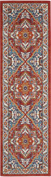 "Nourison Passion Red Runner 2'2"" X 7'6"" Area Rug  805-142178"