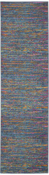 "Nourison Passion Blue Runner 1'10"" X 6'0"" Area Rug  805-142195"