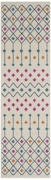 "Nourison Passion Beige Runner 2'2"" X 7'6"" Area Rug  805-142286"