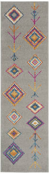 "Nourison Passion Grey Runner 2'2"" X 7'6"" Area Rug  805-142292"