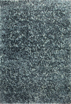 Indian Shaggy Grey Rectangle 4x6 ft Polyester and Wool Carpet 143398