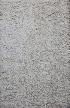 Indian Shaggy Beige Rectangle 4x6 ft Wool Carpet 143403