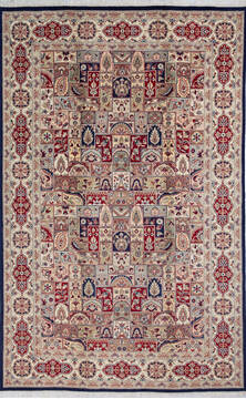 "Pak-Persian Blue Hand Knotted 6'0"" X 9'3""  Area Rug 700-143408"