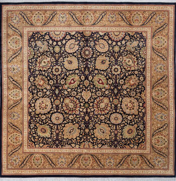 "Pak-Persian Black Square Hand Knotted 9'7"" X 9'3""  Area Rug 700-143410"
