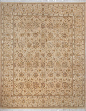 "Pak-Persian Beige Hand Knotted 8'1"" X 10'0""  Area Rug 700-143412"