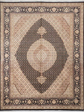 "Pak-Persian Black Hand Knotted 8'0"" X 10'4""  Area Rug 700-143413"