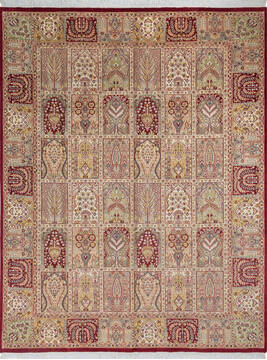 "Pak-Persian Red Hand Knotted 8'0"" X 10'3""  Area Rug 700-143414"