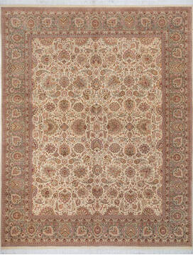 "Pak-Persian Beige Hand Knotted 8'1"" X 10'4""  Area Rug 700-143415"