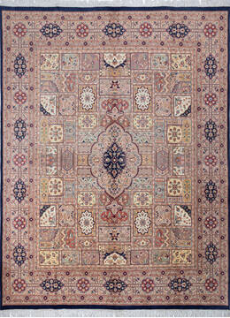 "Pak-Persian Blue Hand Knotted 8'0"" X 10'5""  Area Rug 700-143416"