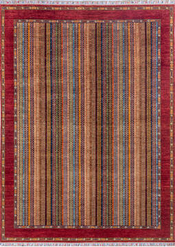 "Chobi Red Hand Knotted 8'2"" X 11'1""  Area Rug 700-143427"