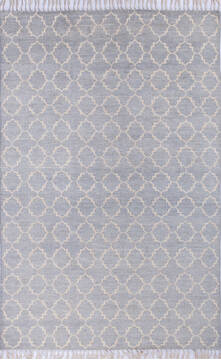 "Gabbeh Grey Hand Knotted 6'0"" X 9'3""  Area Rug 700-143458"